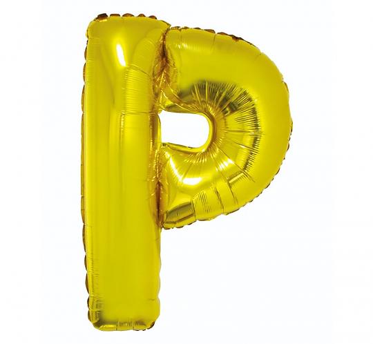 """Balon foliowy """"Litera P"""", złota, 89 cm"""