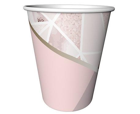 """Kubeczki papierowe """"Rose Chic"""", 240 ml/ 6 szt."""