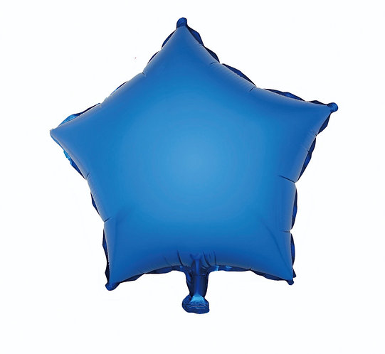 "Balon foliowy ""Gwiazda"", niebieska, 19"""