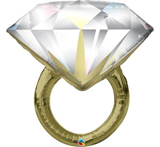"Balon foliowy 37"" QL SHP ""Diamond Wedding Ring"""