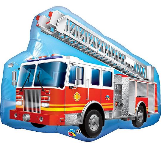 "Balon foliowy 36"" QL CIR ""Red Fire Truck"""