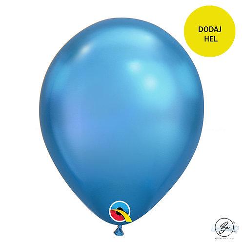"Balon QL 11"", chrom niebieski"