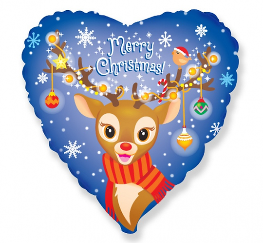 "Balon foliowy 18""  - ""Merry Christmas (renifer)"""