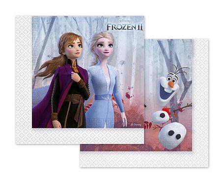 Serwetki papierowe Frozen 2, 33x33 cm, 20 szt.