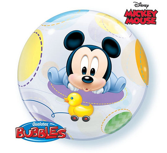 "Balon foliowy 22"" QL Bubble Poj. ""Baby Mickey"""