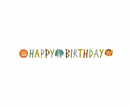 Girlanda papierowa Happy Birthday Get Wild  180 x 15 cm