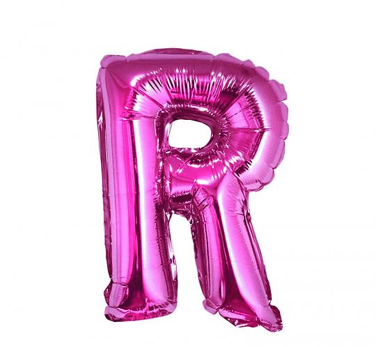 """Balon foliowy """"Litera R"""", różowa, 35 cm"""