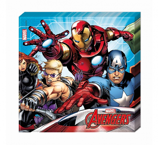 """Serwetki papierowe """"Mighty Avengers"""", rozm. 33 x 33 cm, 20 szt."""