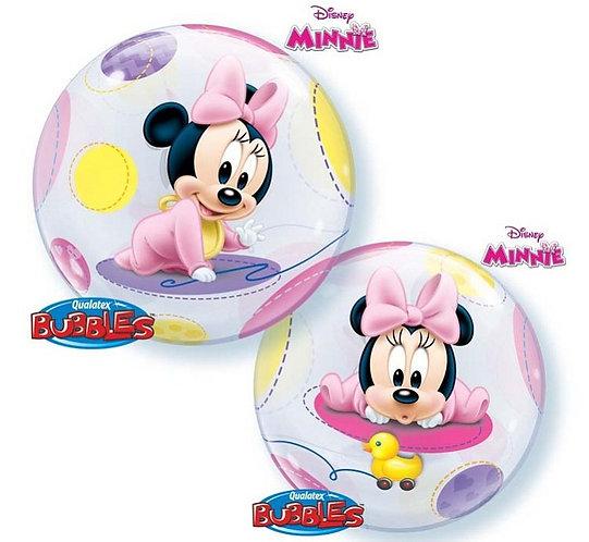 "Balon foliowy 22"" QL Bubble Poj. ""Baby Minne"""