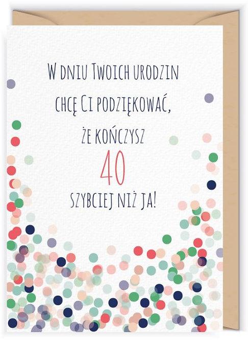 Kartka okolicznościowa - Cudowianki -na 40 ste urodzin