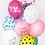 Thumbnail: Balony Serduszka, niebieskie transparentne