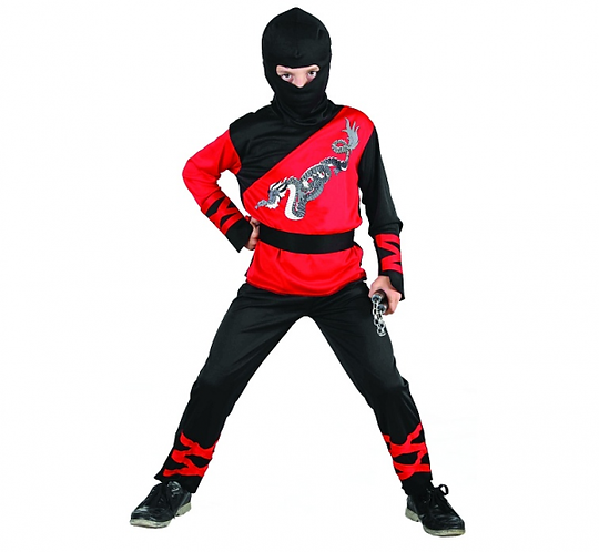 Strój dla dzieci Dragon Ninja rozm. 110/120 cm