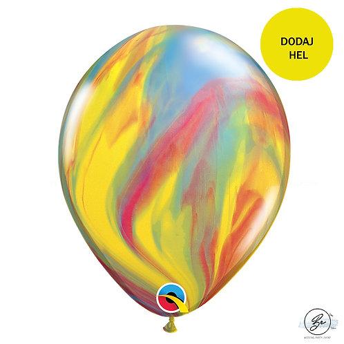 "Balon QL 11"", pastel agat wielokolorowy"