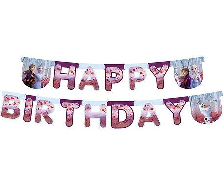 """Banner """"HAPPY BIRTHDAY"""" Frozen 2, 230 cm"""