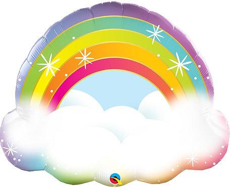 Balon foliowy 32 cale QL Shape Rainbow