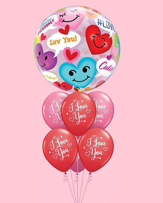 Bukiet balonowy Love U 7 szt