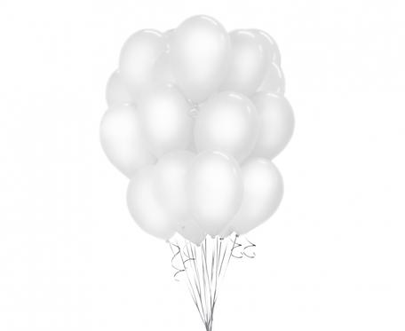 """Balony Beauty&Charm, pastelowe białe 12""""/ 50 szt."""