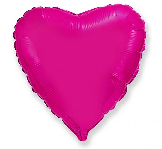 "Balon foliowy ""Serce"", с. różowe, 18"""