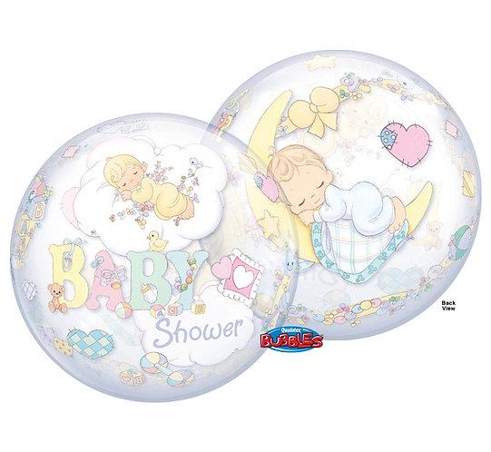 "Balon foliowy 22"" QL Bubble Poj. ""Precious Moments Baby Shower """