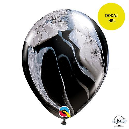 """Balon QL 11"""", pastel agat czarno- biały"""