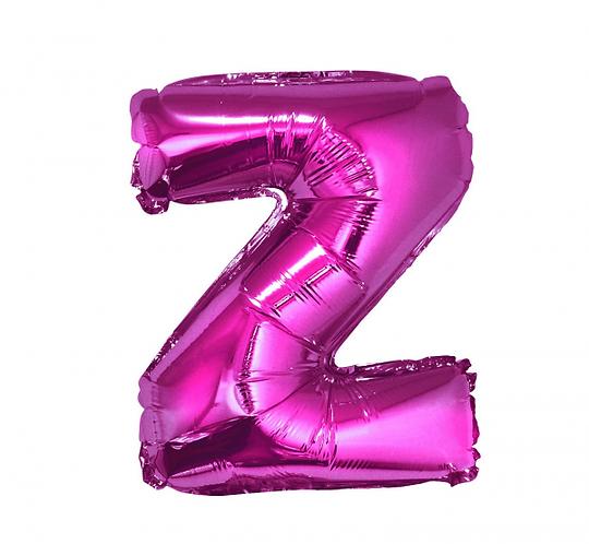 """Balon foliowy """"Litera Z"""", różowa, 35 cm"""