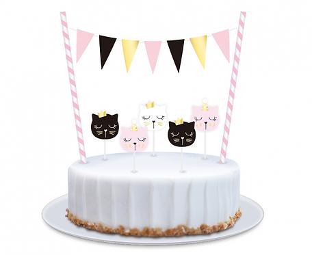 Dekoracja na tort PB&C Kotek