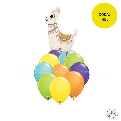 Bukiet balonowy Happy Lama 11 szt