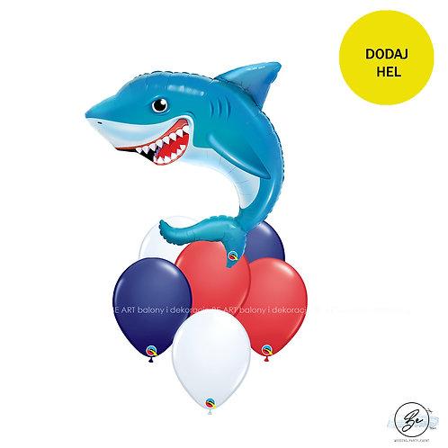 Bukiet balonowy Rekin 7 szt