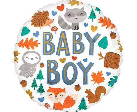 Balon foliowy 18 cali Baby Boy Woodland Fun