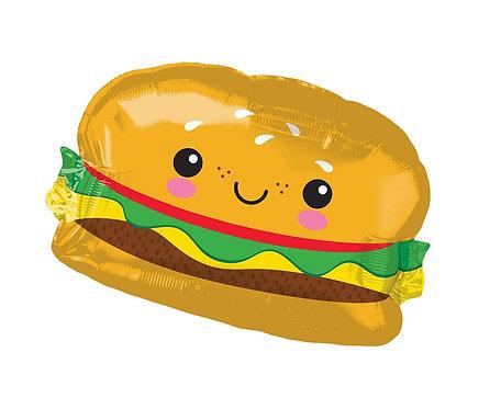 Balon foliowy SuperShape Hamburger, 66x45 cm