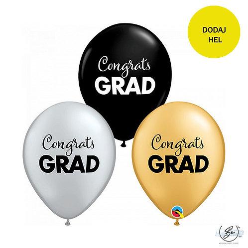 Balon QL 11 cali z nadr. Congrats grad, miks kolorów