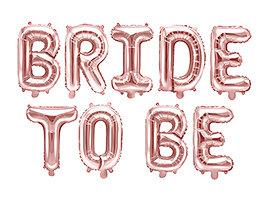 Balon foliowy Bride to be, 340x35cm, różowe złoto
