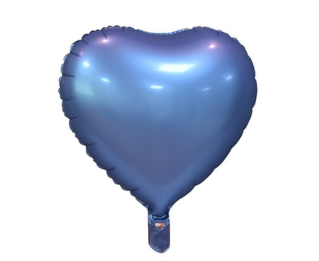 """Balon foliowy """"Serce"""", matowe, barwinek, 18"""",matowe"""