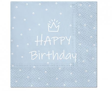 Serwetki wzorzyste Happy Birthday