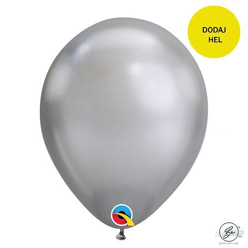 """Balon QL 11"""", chrom srebrny"""