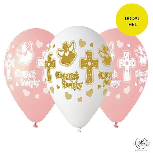 Balony Premium Hel Chrzest dziewczynki, 13 cali