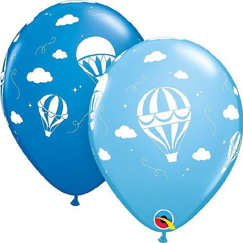 Balon 11 cali QL z nadr Hot Air Balloons blue