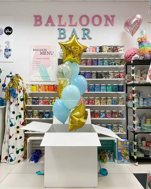 Poczta balonowa - Bukiet Gold&Blue