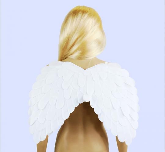 Skrzydła aksamitne białe, 51x39 cm