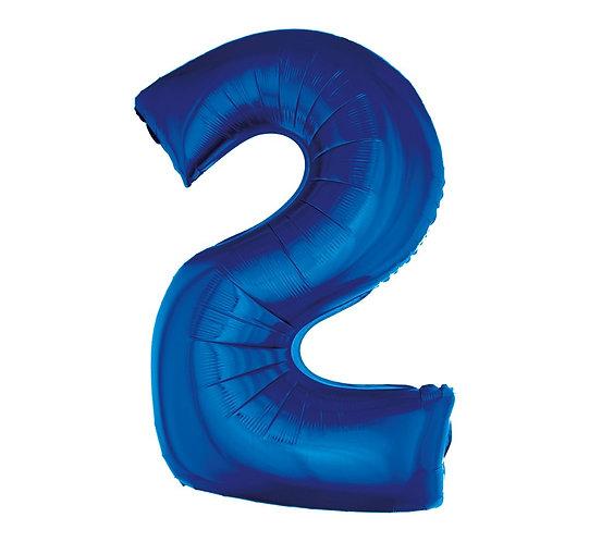 balon cyfra 2, foliowa cyfra, balony godan, sklep z balonami wrocław