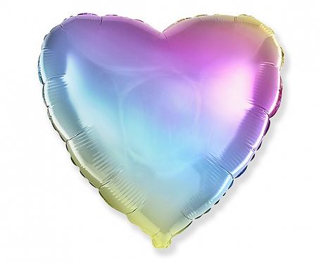 Balon foliowy - Serce gradient pastelowy