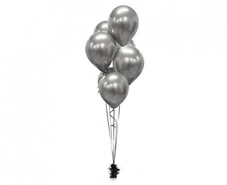 """Balony Beauty&Charm, platynowe grafitowe 12""""/ 50 szt."""