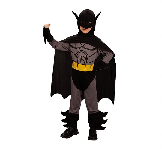 Strój dla dzieci Czarny wojownik Batman rozm. 130/140 cm