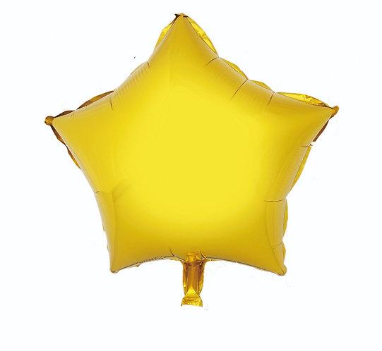 """Balon foliowy """"Gwiazda"""", złota, 19"""""""