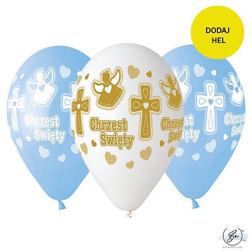 Balony Premium Hel Chrzest chłopca, 13 cali