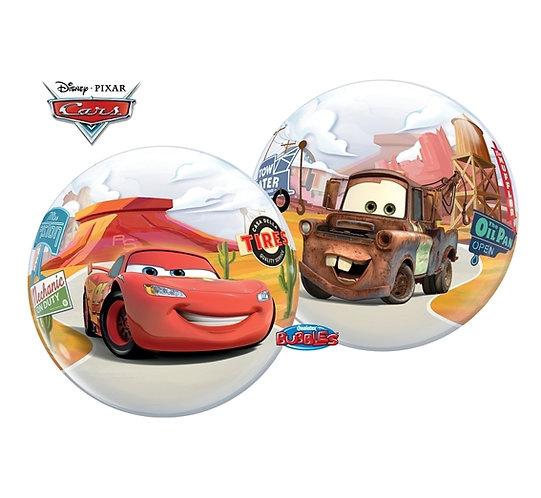 "Balon foliowy 22"" QL Bubble Poj. ""Cars - McQueen"""