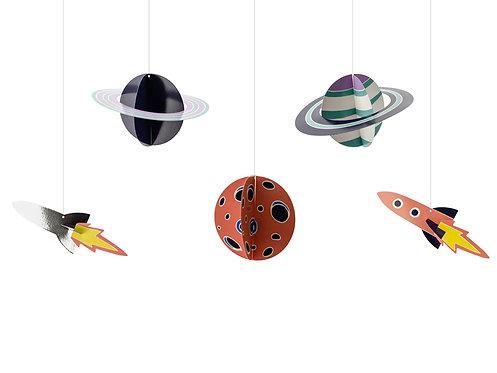 Zawieszki dekoracyjne Kosmos, mix