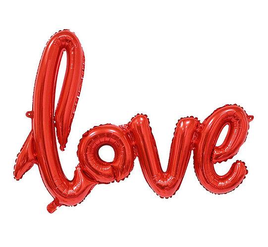 """Balon foliowy """"Napis LOVE"""", czerwony, 68 cm"""