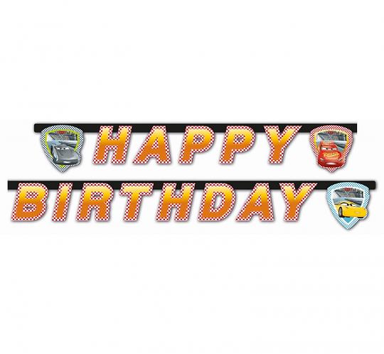 "Banner ""Cars 3 - Happy Birthday"""