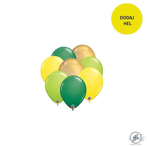 Bukiet balonowy Tropical & Gold 8 szt